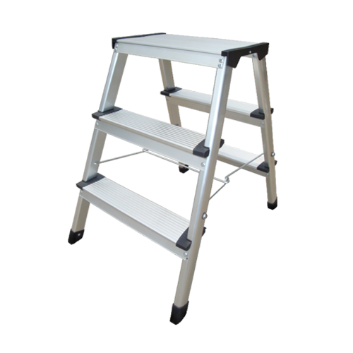 ALUMINIUM HANDY STEP LADDER DOUBLE SIDED 3 STEPS