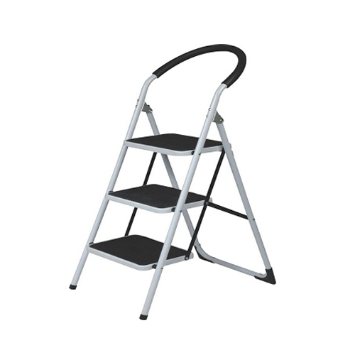 3 STEP LADDER HEAVY DUTY WITH LOWER HANDAIL FOAM COATED