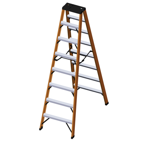 FIBERGLASS DOUBLE SIDED STEP LADDERS