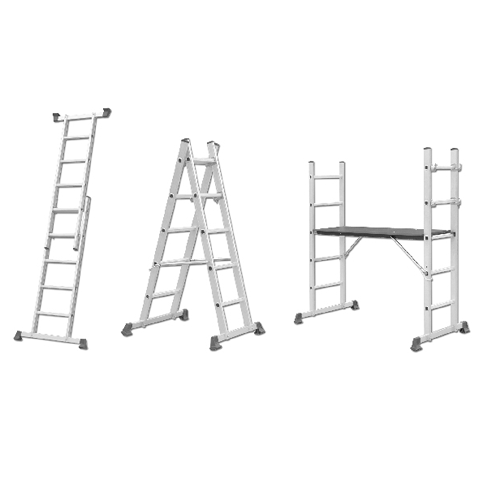 ALUMINIUM FOLDABLE LADDER SCAFFOLDING 3 IN 1