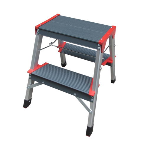 ALUMINIUM LADDER WITH WIDER STEPS DOUBLE SIDED 2 STEPS